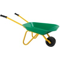 Children's Green Metal Wheelbarrow