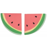 2 x Wooden Watermelon Slices