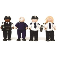 Wooden Police and Prisoner Set