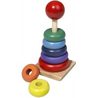 Wooden Rainbow Stacker Toy