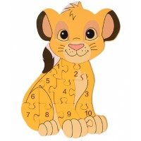 Simba Wooden Number Puzzle