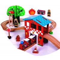 Bigjigs Fire and Rescue Train Set