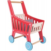 Childrens Wooden Shopping Trolley