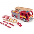 Large Wooden Fire Engine Set