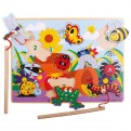 Magnetic Wooden Fun Bugs Puzzle