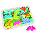 Janod Chunky Wooden Dinosaur Puzzle