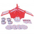 Spotted Picnic Basket Tea Set