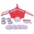 Spotted Picnic Basket Tea Set