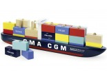 Stacking Wooden Container Ship