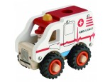 Wooden Ambulance with Rubber Wheels