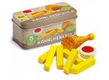 Tin of Wooden Chicken and Chips with Dip