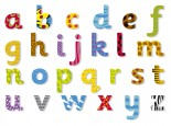 Lower Case Magnetic Wooden Letters