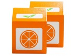 2 x Wooden Orange Juice Cartons