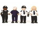 Wooden Police and Prisoner Set
