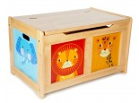 Natural Wooden Jungle Toy Chest
