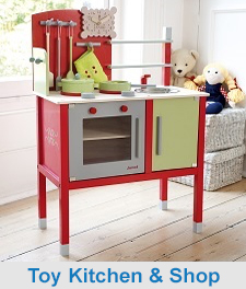 Wooden Toy Kitchen & Shop